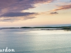 Sunset over the bay at Balranald, North Uist